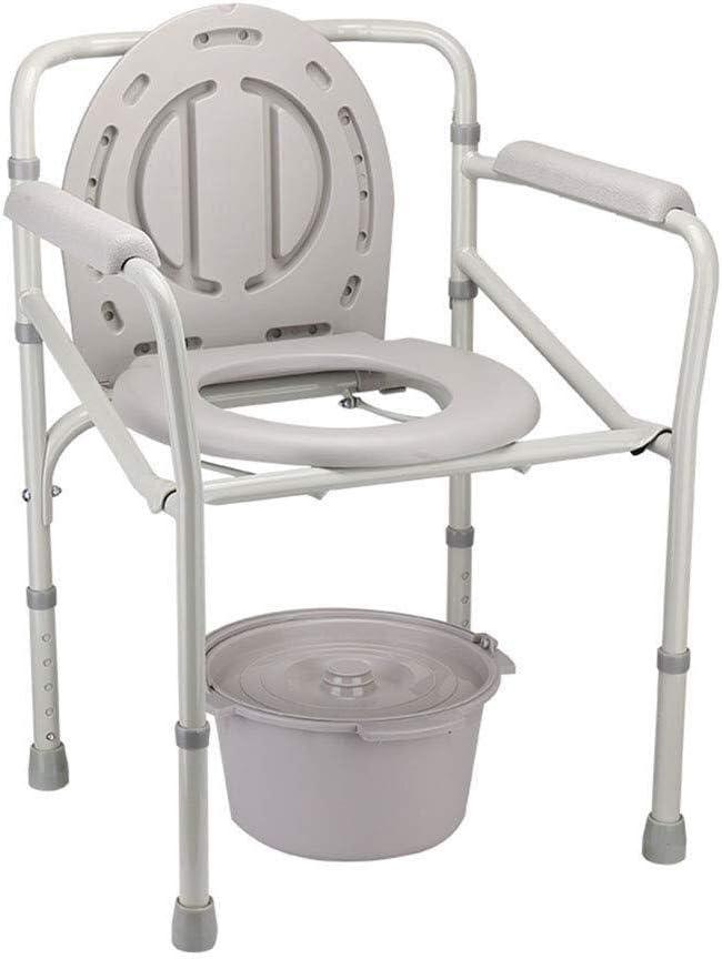 Sillas con inodoro Los Asientos de Inodoro Elevado de Acero Plataforma Médica De pie Frame WC Carga máxima Capacidad 330lbs
