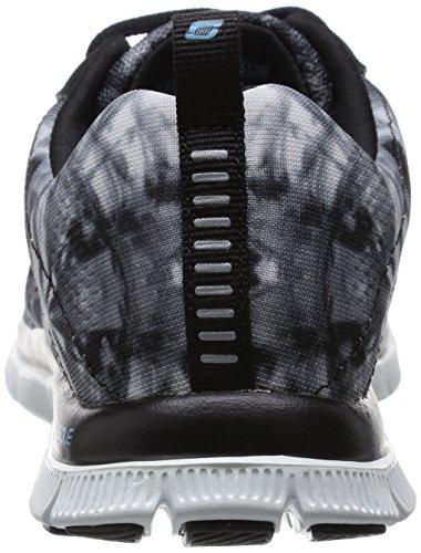 nbsp;cosmic Noir Flex blanc Femme Skechers Appeal Noir Basses Rays Baskets av8RwEq