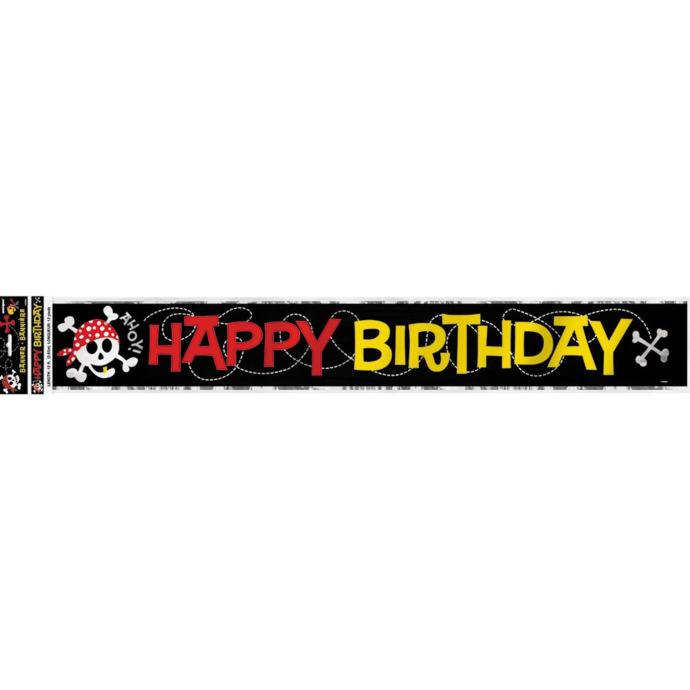 12 Latex Pirate Party Happy Birthday Balloons 8ct