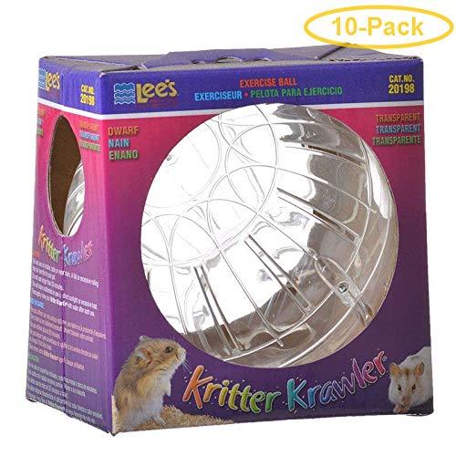 Lees Kritter Krawler - Clear Mini - 3'' Diameter - Pack of 10