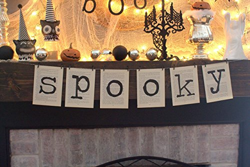 Spooky Book Page Banner