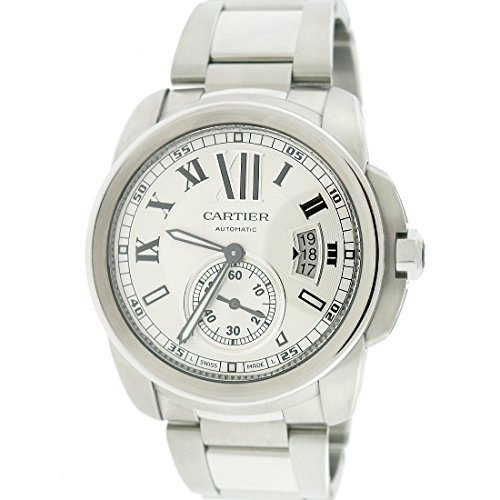 Cartier-Calibre-42mm-Silver-Roman-Dial-Automatic-Mens-Watch-W7100015-BoxPapers