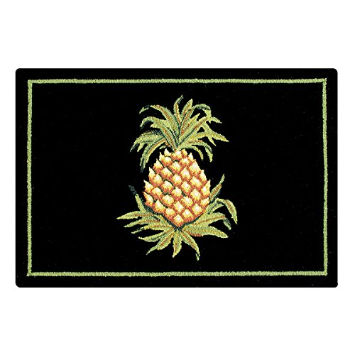 C&F Home Pineapple Hooked Rug, 2' x 3' , Black