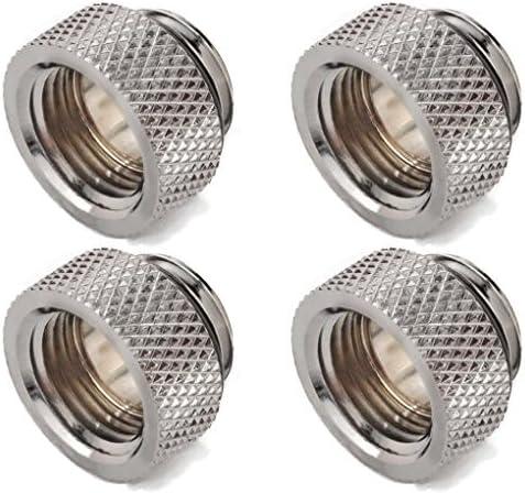 Bitspower G1//4 Silver Shining IG1//4 Extender 4 Pack