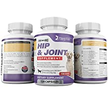 #1 BEST GLUCOSAMINE for dogs Hip and Joint Supplement 120 count Natural chewable supplement with Glucosamine Chondroitin MSM Sulfate High Strength 800 mg Tasty hip and joint supplement your dog will love 90 Day NO PROBLEM Customer Satisfaction Guarantee.