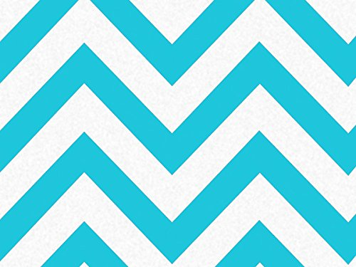 Turquoise Wide Chevron Stripe 240~20''x30'' Sheets Recycled (240 Sheets) - WRAPS-P1347 by Miller Supply, Inc.