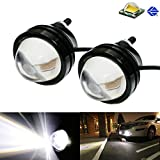 4 inch round hid fog lights - iJDMTOY (2) Xenon White 5W CREE High Power Bull Eye LED Projector Lamps, Good For Parking Lights, Fog Lights, Driving DRL Lights or Backup Reverse Lights