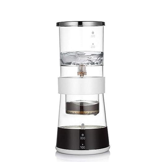 CS-LJ Cafetera Hogar Extracto de Hielo Vidrio Máquina de café ...