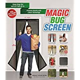 Magnetic Screen Door, HOSYO Mesh Curtain 39x83 Inch Mosquito Screen Keeps Bugs Out, Toddler And Pet Friendly