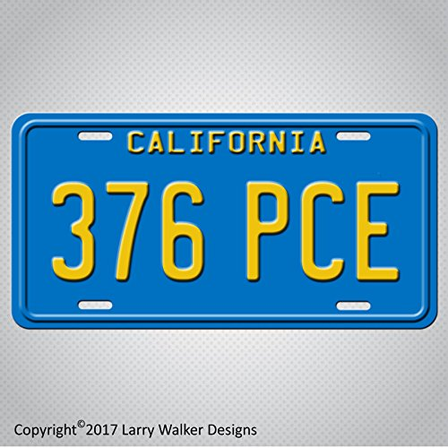 (The Big Lebowski Jeff Bridges' Torino Replica Prop Aluminum License Plate Tag)