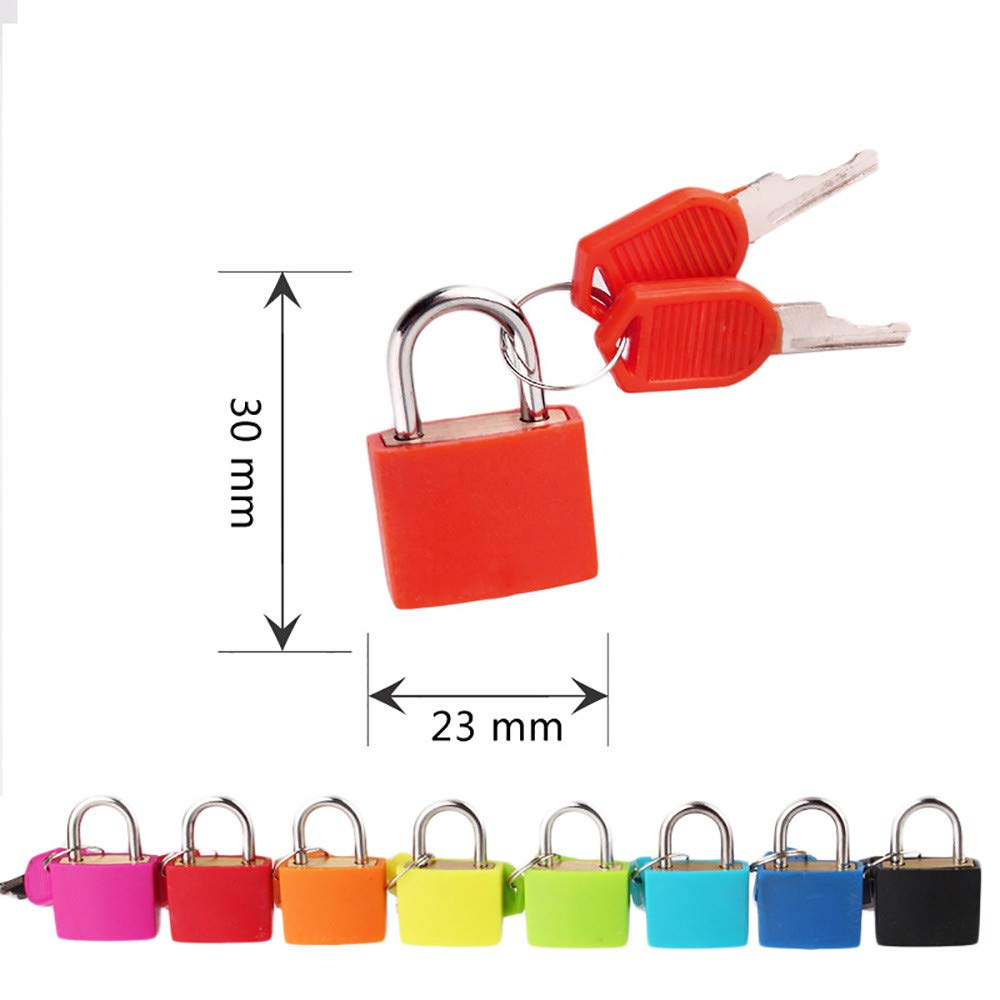 Lljin Small Mini Strong Steel Padlock Travel Suitcase Diary Lock With 2 Keys (E)