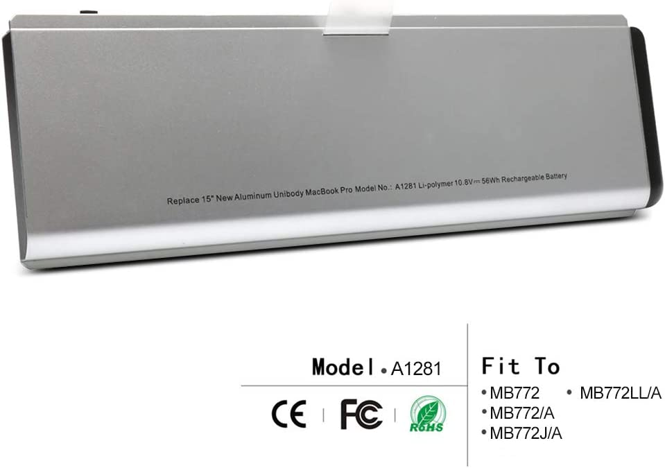 "LQM New Laptop Battery For Apple MacBook Pro 15"" A1281 A1286 (2008 Version), fit MB772 MB772/A MB772J/A MB772LL/A"