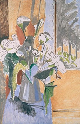 'Bouquet Of Flowers On A Veranda,1912 Henri Matisse' Oil Painting, 20x31 Inch / 51x79 Cm ,printed On Perfect Effect Canvas ,this Vivid Art Decorative Canvas Prints Is Perfectly Suitalbe For Nursery Artwork And Home Gallery Art And Gifts