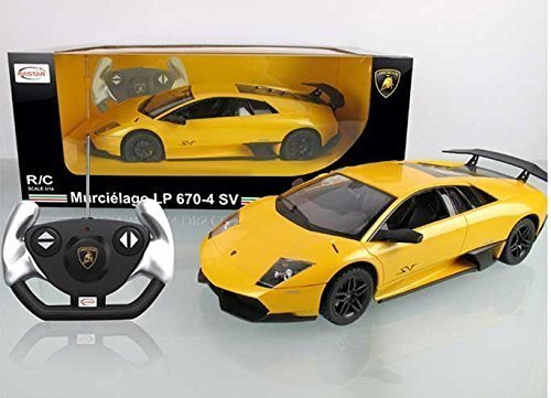 1/14 Scale Lamborghini Murcielago LP670-4 SV Radio Remote Control Model Car R/C RTR (Yellow)