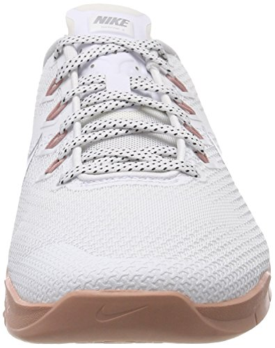 Compétition Femme White de 4 NIKE Chaussures Metallic WMNS 100 Silver Running Metcon Multicolore UwYUH4qF