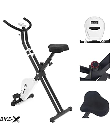 ESPRIT BIKE-X Fitness Belt Driven Foldable Exercise Bike Fitness Cardio Workout Weight Loss Machine (White)