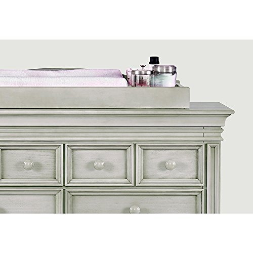 Baby Cahce Vienna Changing Topper in Ash Gray Finish by Baby Cache