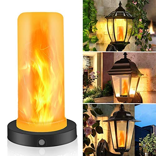 YMING - LED Flame Effect Magnetic Candle Light - 4 Modes with Upside Down Effect -with Timer Function,Battery Operated - Flame Bulbs for Home/Hotel/Bar Party Decoration