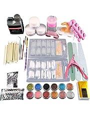 J-ouuo Acryl Nagel Kit Acryl Poeder Nagel Tips Nail Art Decoratie Gereedschappen Professionele Manicure Set
