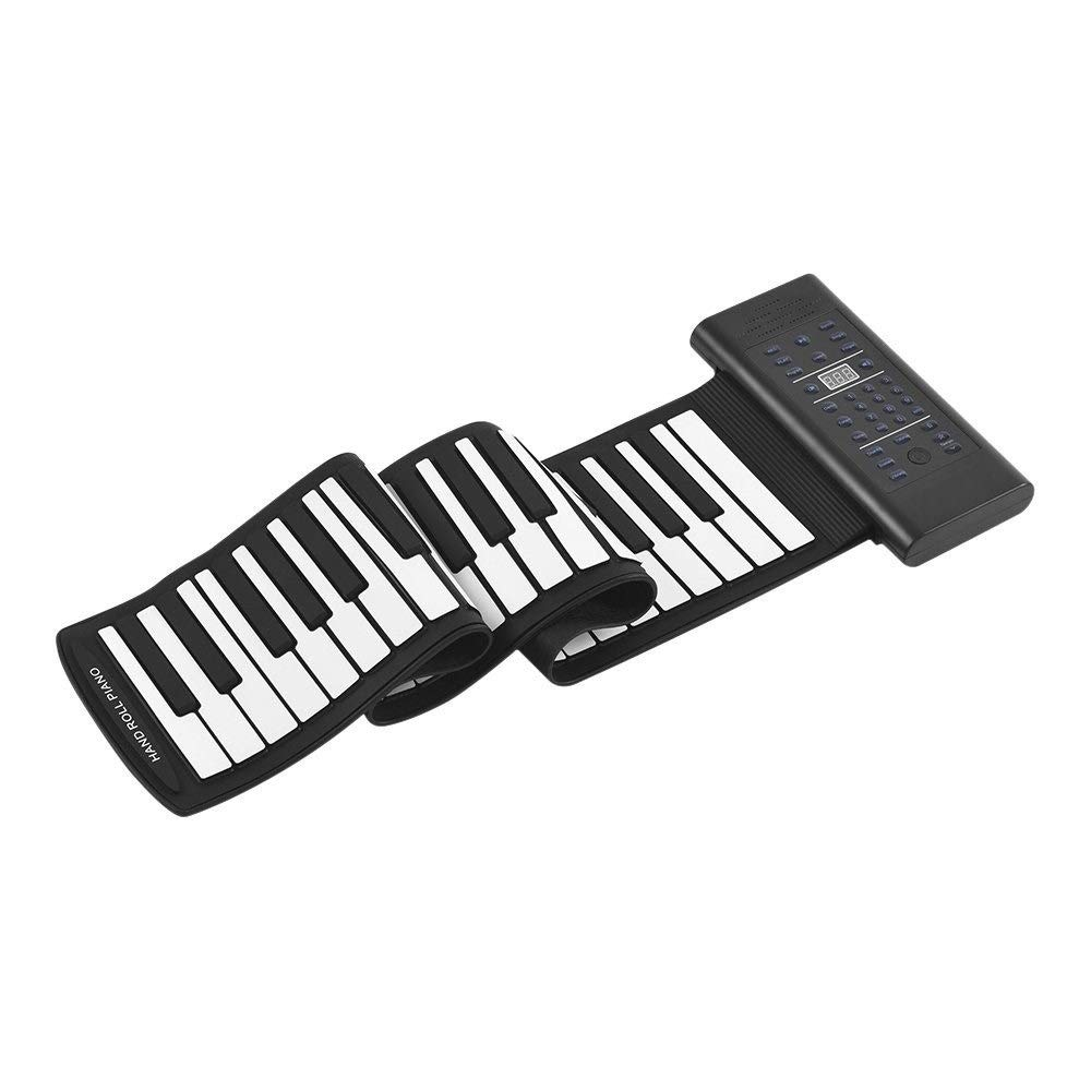 HIIMODER33 Premium Grade Silicone Piano 61 Keys,Portable Roll Up Electronic Piano Keyboard Silicone Flexible Professional Foldable Storage by HIIMODER33