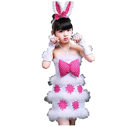 Disfraz de Conejo Blanco for niña Disfraz de Animal Atrezzo ...