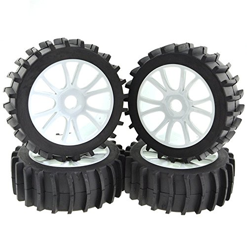 Rowiz Gray 1/8 Scale RC Off Road Buggy Snow Sand Paddle Tires Tyre Wheel HSP HPI ()