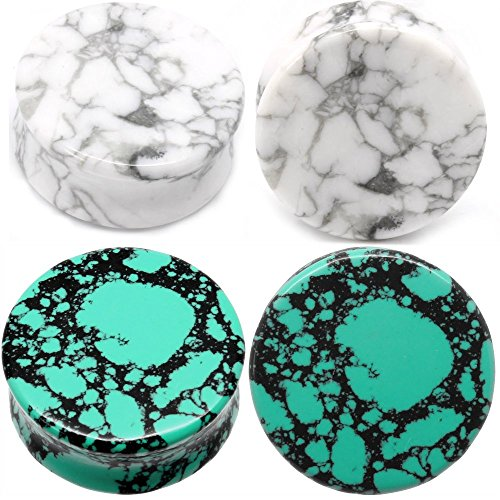 Combo Green Howlite Organic Gauges product image