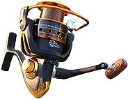 elegantstunning Spinning Fishing Reel 12+1 Bearing Balls Fishing Reel with Left Right Convertible Metal Rockin