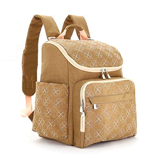 Bolso de la momia, bolso de hombro, de gran capacidad multi-funcional fuera del paquete, bolso de la madre de la manera, bolso del bebé de la madre, ser producido la morral ( Color : Purple ) Camello