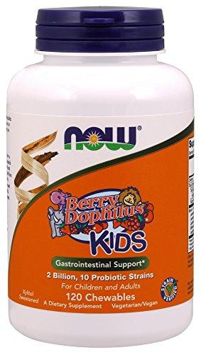 Foods Kids Chewable (BerryDophilus Kids Now Foods 120 Chewable)