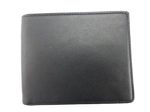 Royce Leather RFID Blocking Euro Commuter Wallet, Black