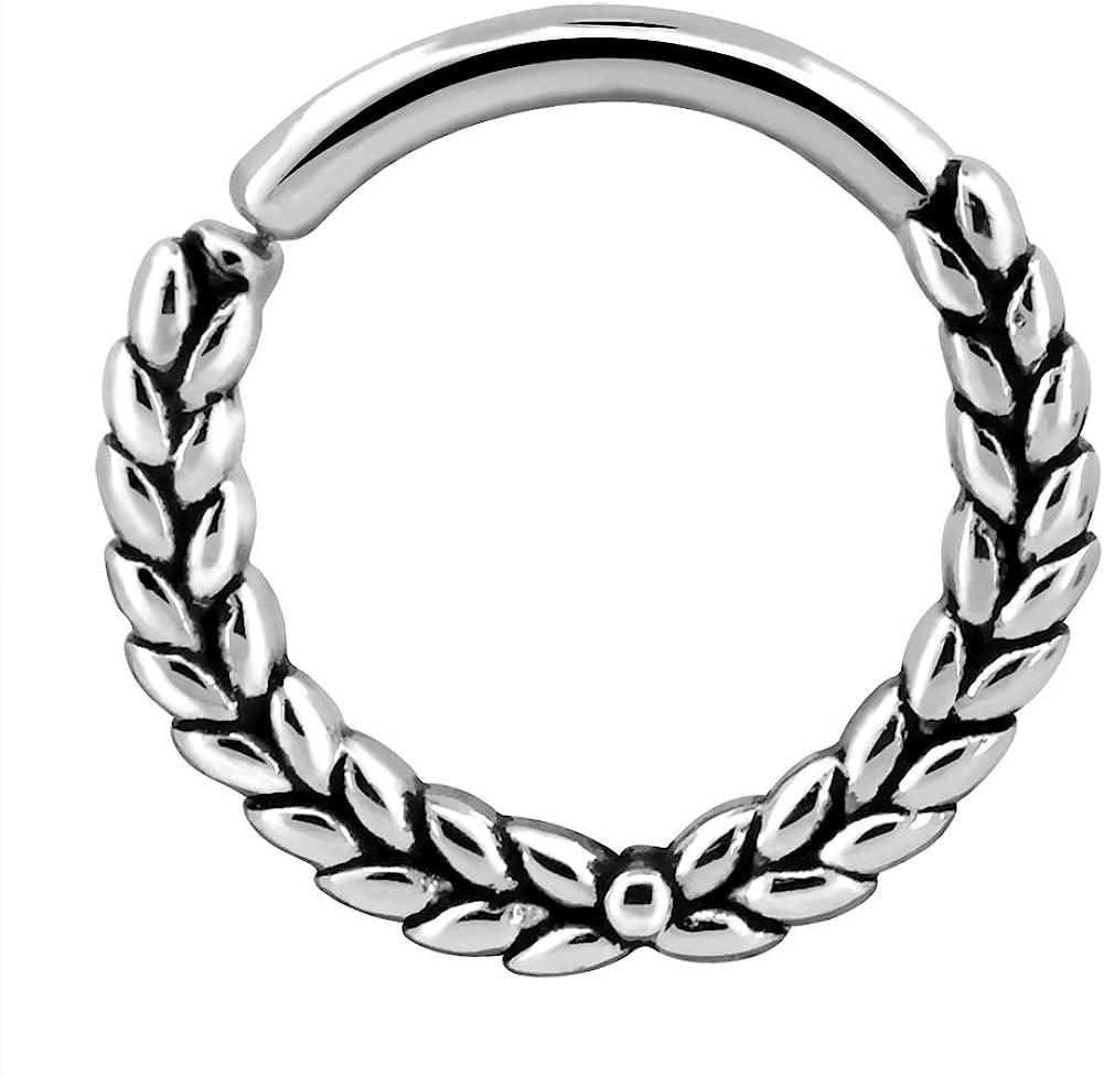 1PC Stainless Steel Hinged  Daith Twist Hoop Earrings Stud Earrings