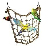 Da.Wa Parrot Bird Hanging Perch Rope Small Animal Climbing Net Hamster Hammock Pet Swing Ladder Pet Supplies Playing Toy