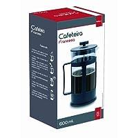 CAFETEIRA FRANCESA CHALEIRA EM VIDRO CREMEIRA PARA CAFE BULE PRENSA FRENCH PRESS 600ML