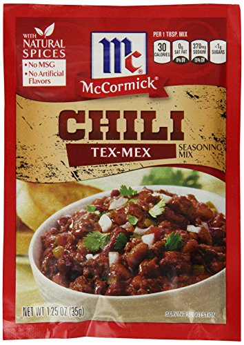 McCormick Tex Mex Chili Seasoning Mix, 1.25 oz (Case of - Mex Tex Chili