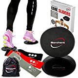 Gliding Discs and 3 Resistance Bands from Borchent – Fitness Equipment for Home for Intense, Low-Impact Exercises to Strengthen Core, Glutes, and Abs