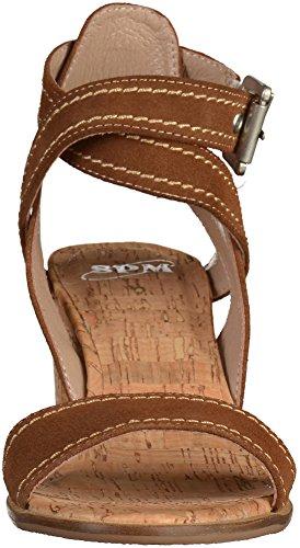 SPM - Sandalias de Punta Descubierta Mujer Marrón - marrón oscuro