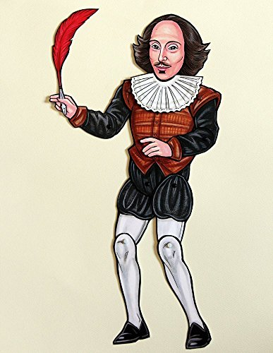 Shakespeare Articulated Paper Doll with Quill and Detachable Ruff by Ardently Crafted