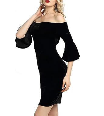 Women Off The Shoulder Short Sleeve High Low Cocktail Skater Dress Evening  Dress Party Dress( 0a6225aa3