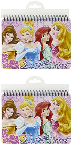 Disney Autograph Books 2019 With Disney Princess Belle Aurora Cinderella And More, 2 pc Set, Handy for Notes and Portable Size