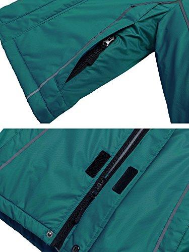 Wantdo Boy's Windproof Skiing Jacket Fleece Lined Hoodies Short Parka Rainwear(Blackish Green, 10/12) by Wantdo (Image #5)