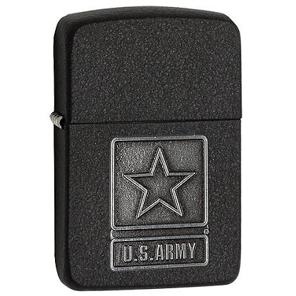 Zippo U.S. Army Pewter Emblem Lighter 28583 - Zippo Army Stamp