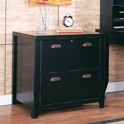 Martin Furniture Tribeca Loft Black 2-Drawer Lateral File Cabinet - Fully Assembled by Martin Furniture (Image #8)