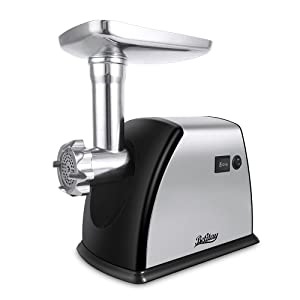 Betitay Electric Meat Grinder, 【1800 Watts Max】Stainless Steel Meat Mincer Maching with 3 Grinding Plates,Sausage Making Kit,Blade & Kubbe Attachment