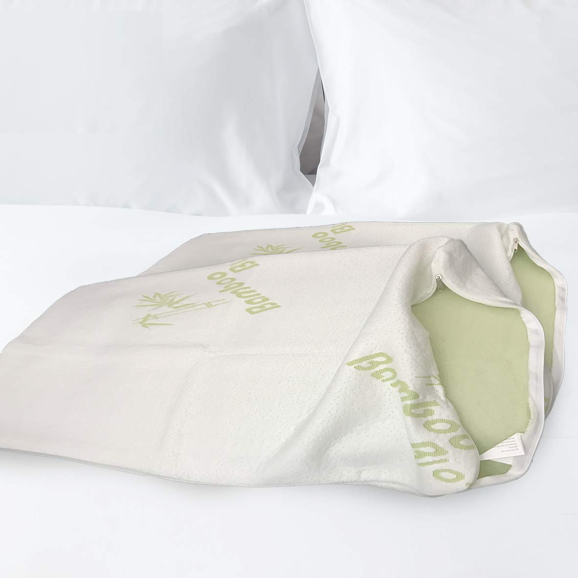 Large Bamboo Pillow Cases White Hypoallergenic Microfibre Anti Allergy Protects Dust Mite, For All Pillows Machine Washable, Cool Pillowcase Helps Asthma Sufferers Sleep Queen Size (50x76cm) Pillow Case Only The Bamboo Pillow Others