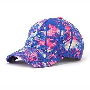JOOWEN Floral Print Baseball Cap Adjustable 100% Cotton Canvas Dad Hat Hats For Women