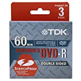 TDK DVD-R28L3 2.8GB Mini DVD-R Disc for Camcorder