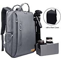 Auelife Multifuction Camera Backpack, WaterProof Shockproof Hiking Backpack for Laptop/Lens/Tripod