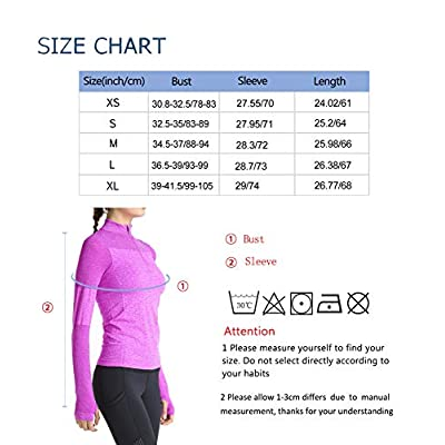 slimour Women Running Shirts Long Sleeve Yoga Jacket Lightweight Half Zip Pullover Athletic at Women's Clothing store
