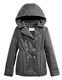 Jessica Simpson Hooded Double-Breasted Coat, Toddler & Little Girls 2T
